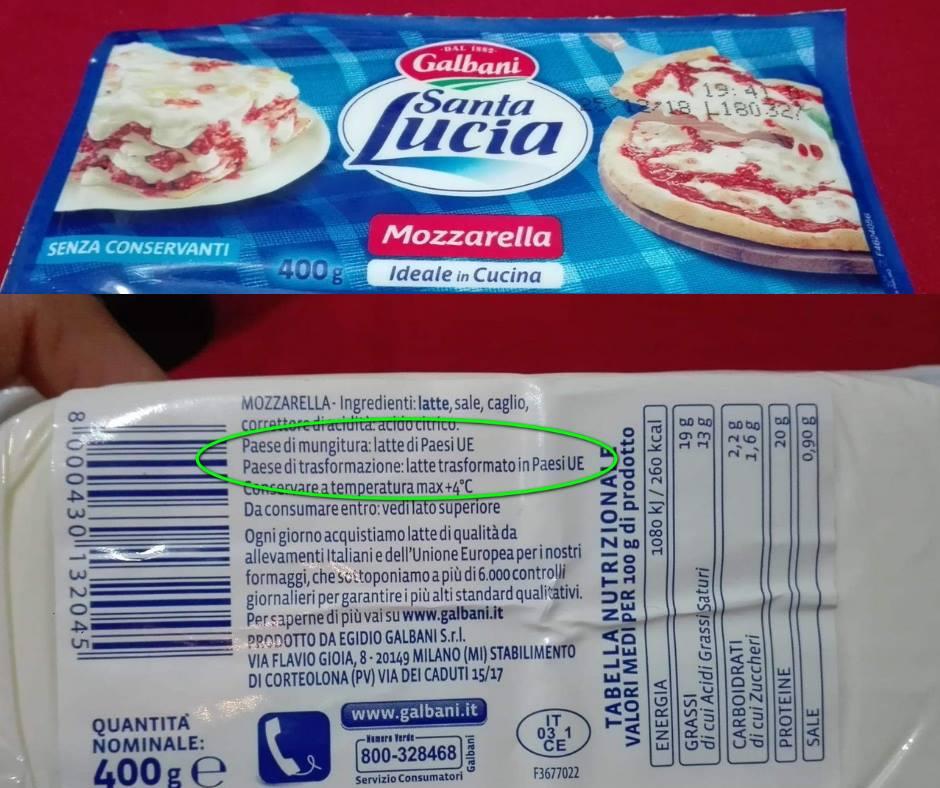 Mozzarella 100% da latte estero! Mozzarella